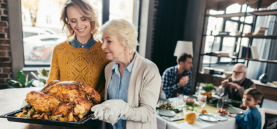 family gathering for thanksgiving weekend